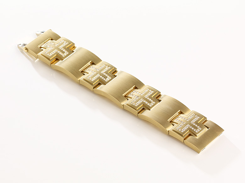 Gliederarmband gold Kreuz